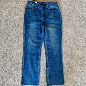 Kenneth Cole Button Fly High Rise Jeans